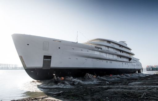 Launched: Largest fully-custom Amels  yacht hits the water photo 5