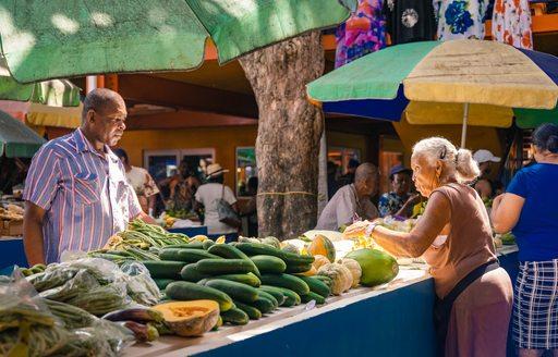 Maldives fruit market
