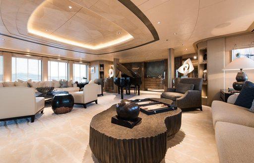 The interior of superyacht ROMEA