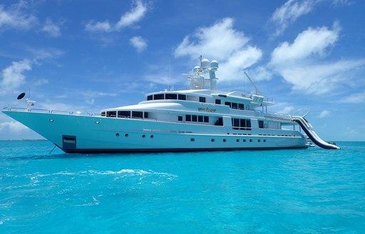 yacht at the bahamas charter show