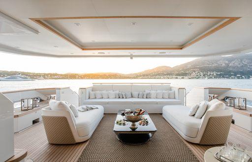 exterior decks on superyacht katia