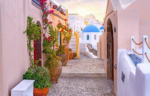 Street in Oia, Greece