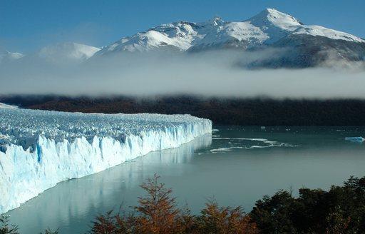 glacial shelf in patagonia