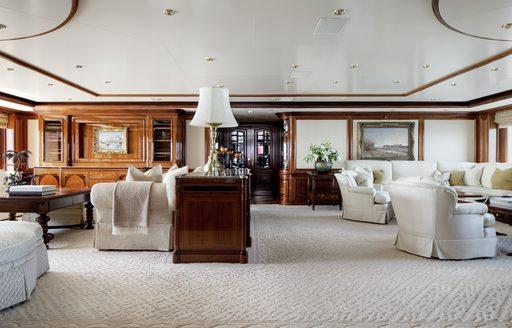 Main salon on megayacht TITANIA from Lurssen