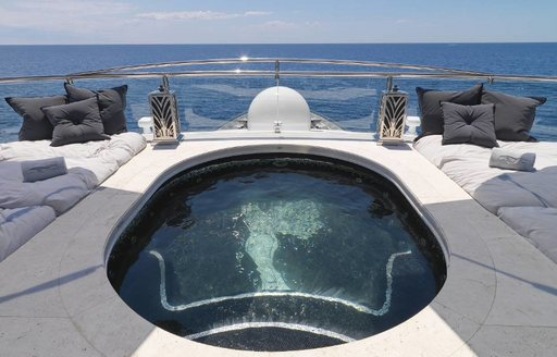 The spa pool on board superyacht 'Silver Angel'