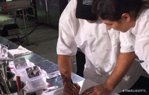 Yacht Chefs planning their meals at FLIBS 2018