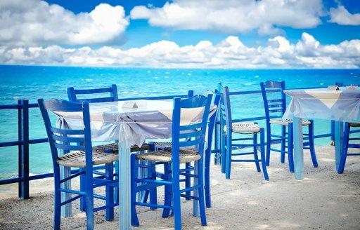 Restaurant on the waterfront in Mykonos