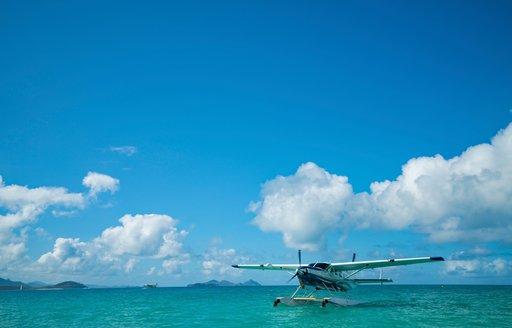 Sea plane in the Great Barrier Reef, Queensland, Australia