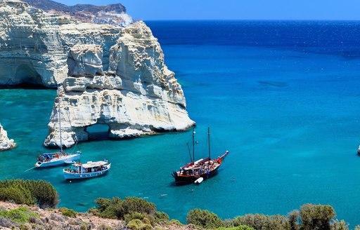 Yachts in Kieftiko Bay, Greece