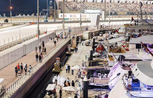 Superyachts in Abu Dhabi for Grand Prix 2019