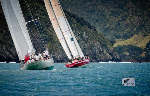 racing at the NZ Millennium Cup in the Bay of Islands, New Zealand