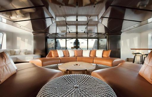 The interior of superyacht CLOUDBREAK