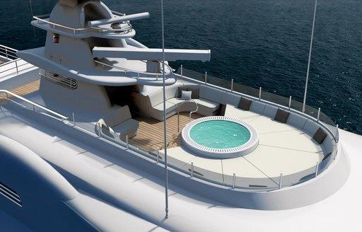 The Jacuzzi featured on suerpyacht 'Plvs Vltra'