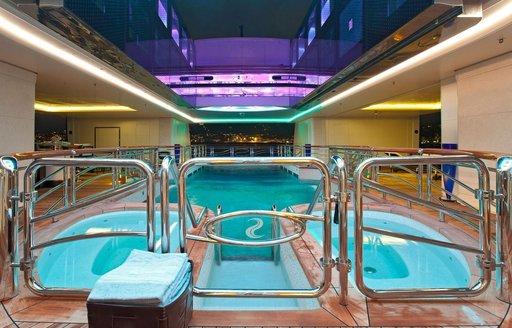 Superyacht SERENE's swimming pool