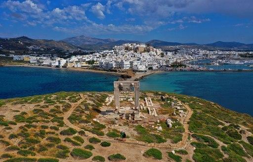 Aerial image of Naxos portara