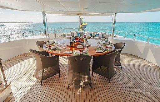 Yacht Heaven Can wait al-fresco dining area