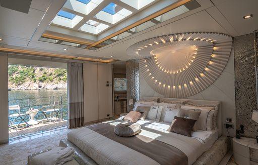 Master cabin on superyacht LILIUM