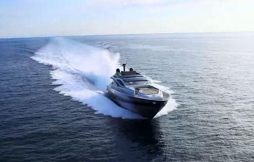 Superyacht underway in Greece