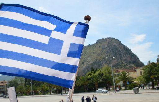 Greek flag flying high at Mediterranean Yacht Show