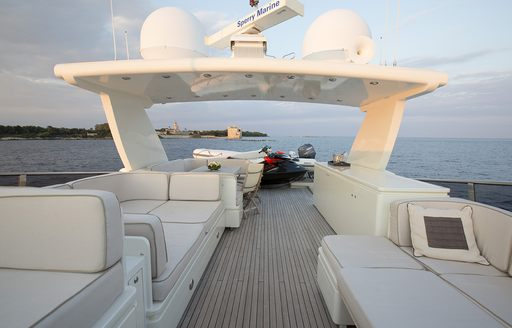 sundeck of superyacht cappuccino