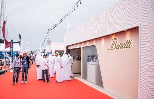 Crown Prince of Dubai outside the Benetti exhibition at the Dubai International Boat Show