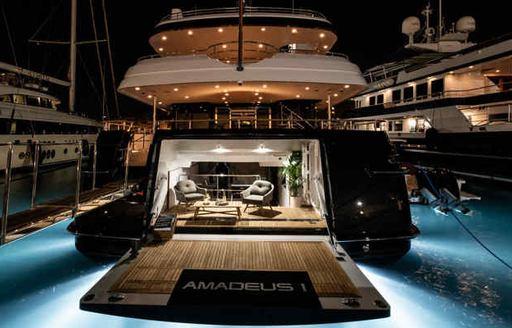 Beach club onboard MY Amadeus I