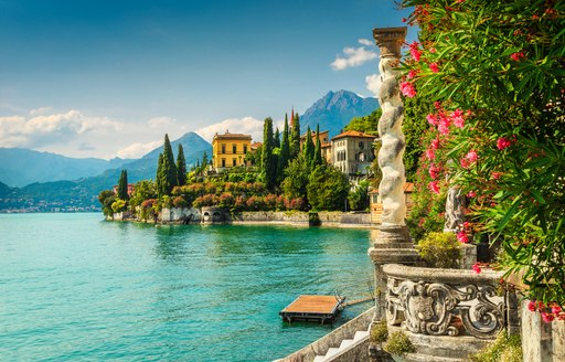 Buildings overlooking the water in Italy
