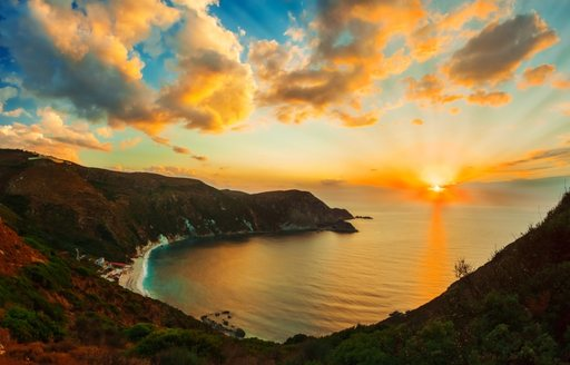 Sunset from a Greek Island