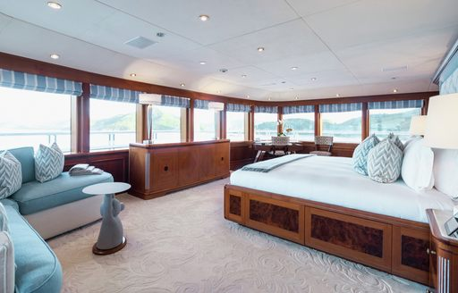 Master suite onboard MY Titania
