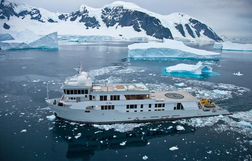 Expedition yacht SuRi in the North Pole