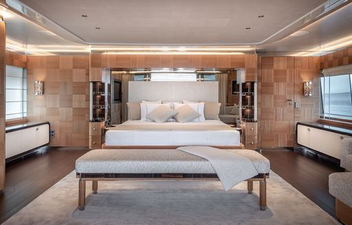 Stateroom on luxury yacht SUNRISE