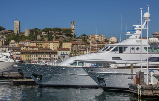 Le Suquet looks over Cannes harbour along the south of France