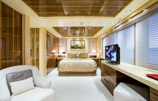 VIP cabin on superyacht VERTIGO