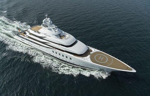 Charter yacht Madsummer aerial