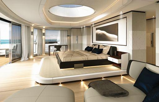 Master suite onboard MY Cloud 9