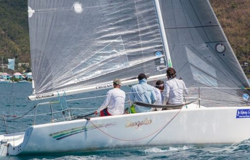 sailors on boat in the bvi