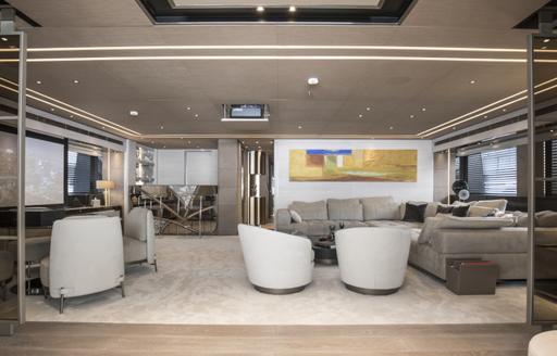 seating area on luxury yacht severins