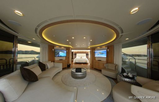 Master suite on MY Grande Amore