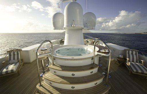 feadship motor yacht CHARISMA's deck jacuzzi (attending pop-up montenegro superyacht show)