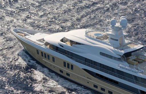 amels 242 yacht model underway