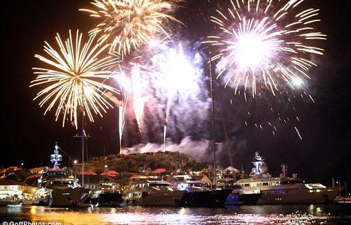 Roman Abramovich's new year's fireworks