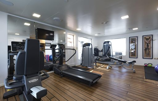 Gym on Superyacht CHAKRA
