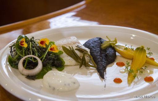 Winning dish at the Mediterranean Yacht Show 2016