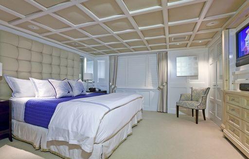 Old master stateroom on board superyacht RHINO
