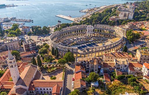 an ariel view of Croatia, an ideal charter destination