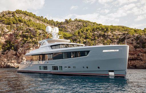 Luxury yacht CALYPSO at anchor