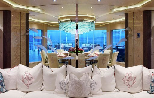 Main salon onboard MY tranquility