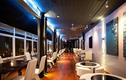 inside bahamas restaurant flying fish in the Bahamas