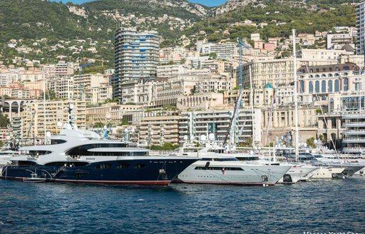 motor yacht BARBARA in Port Hercules for the Monaco Yacht Show 2018