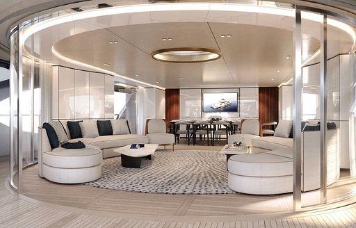 salon on board luxury yacht rebeca